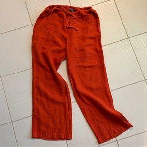 🆕🦋 Vince 100% linen wide leg pants, Size M